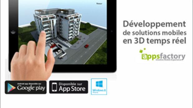 Appsfactory propose des solutions mobiles 3D en réalité augmentée et temps réel