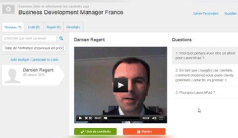La solution britannique d'entretiens vidéo Launchpad Recruits arrive en France