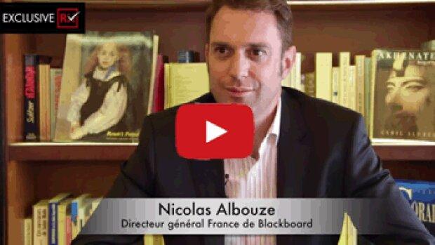 3 min avec Nicolas Albouze, directeur général France de Blackboard