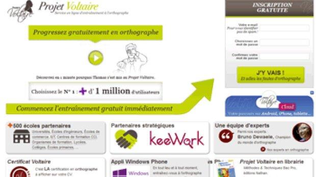 Formation en orthographe : déjà 1,3 million d'utilisateurs pour le projet Voltaire