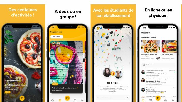 Flips, l'application mobile qui anime la vie étudiante malgré les restrictions sanitaires