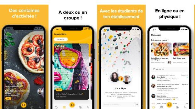 Flips, l'application mobile qui anime la vie étudiante malgré les restrictions sanitaires