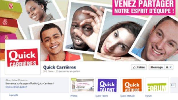 Quick Carrières arrive sur Facebook
