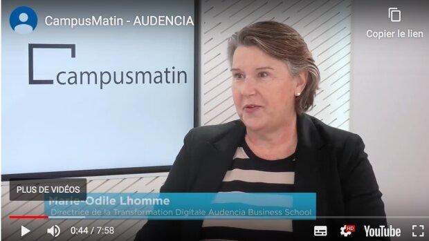 Comment se déploie la transformation digitale d'Audencia (Marie-Odile Lhomme, directrice)