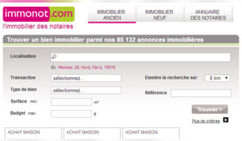 Immonot.com confirme sa position d'expert en immobilier notarial