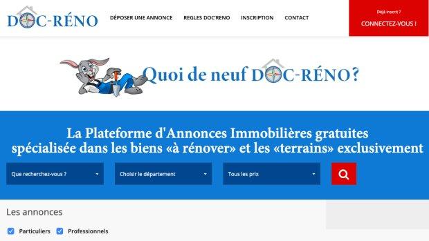 Doc-Réno : naissance du premier portail d'annonces pour les biens à rénover