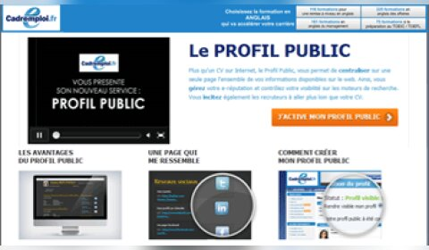 220 000 profils publics créés chez Cadremploi