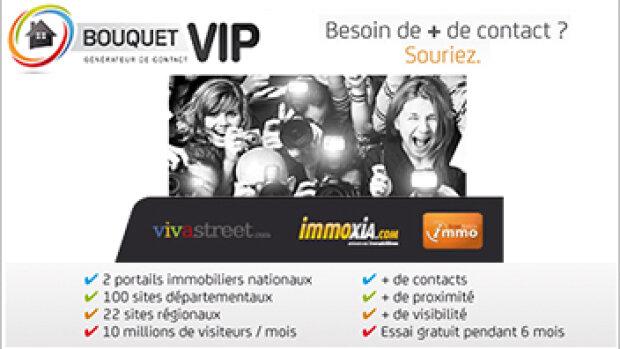 Bouquet VIP : l'offre de Vivastreet réservée aux professionnels de l'immobilier