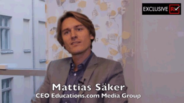 3 min avec Mattias Säker, CEO d'Educations.com Media Group