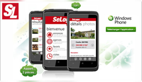 SeLoger continue à investir dans son application sur Windows Phone
