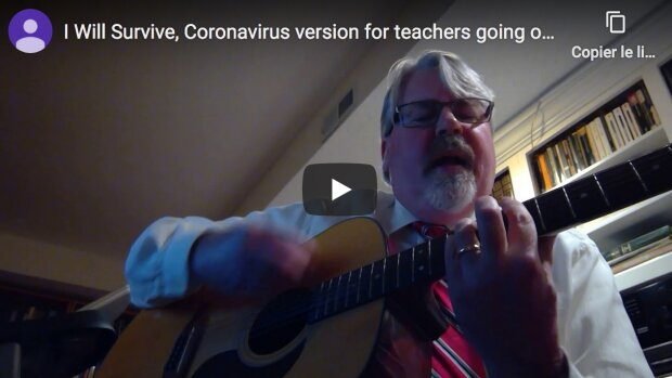 Covid-19 : un prof raconte en chanson le stress du passage digital learning