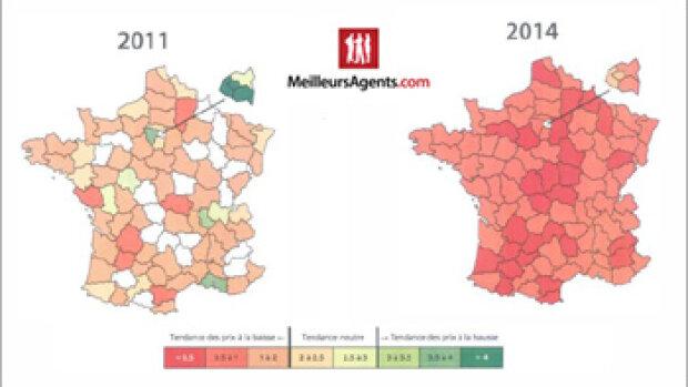 MeilleursAgents.com dévoile son indicateur de tension immobilière