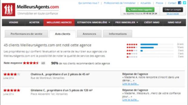 Les avis clients, une vitrine virtuelle pour les agences immobilières - Par MeilleursAgents.com
