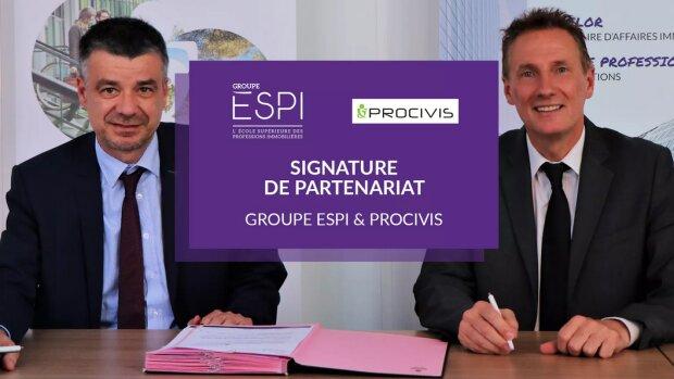 Le Groupe ESPI et Procivis mutualisent leurs réseaux
