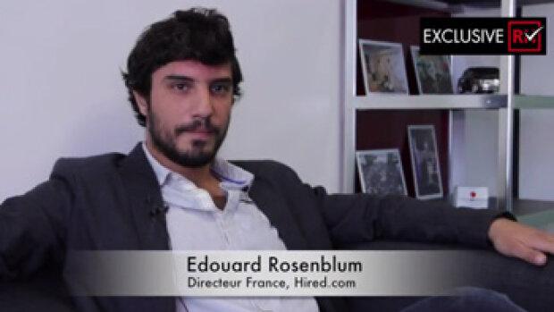 3 min avec Edouard Rosenblum, directeur France, Hired.com