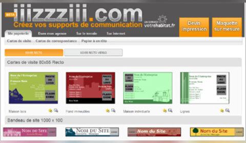 Iiizzziii.com : un  site pour créer ses supports de communication