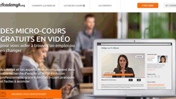 Academyk, la nouvelle plate-forme de micro-cours gratuits pour la gestion de carrière