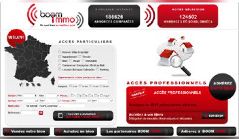 Boom Immo : le premier comparateur d'annonces immobilières
