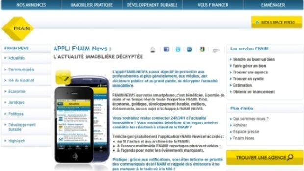 Application FNAIM News: bilan mitigé