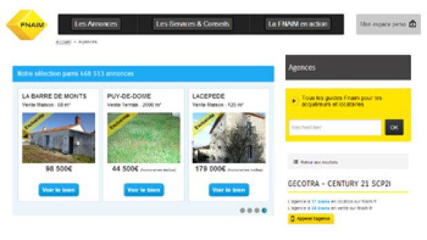 La Fnaim propose des sites clés en main à partir de 29 euros par mois