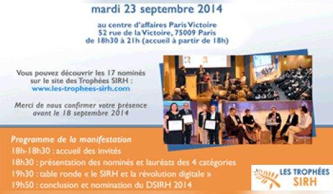 Trophées SIRH 2014 : les 16 nominés sont…