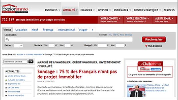 Baromètre Explorimmo/Ifop : 3 Français sur 4 n'ont pas de projet immobilier