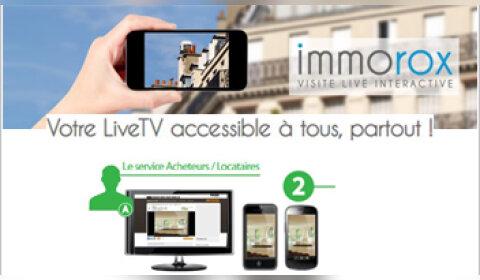 Créez des visites interactives en direct grâce à Immorox