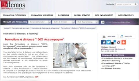 Demos lance une offre de formation à distance 100 % accompagné