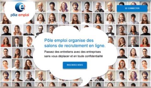 Pôle emploi organise ses premiers salons virtuels
