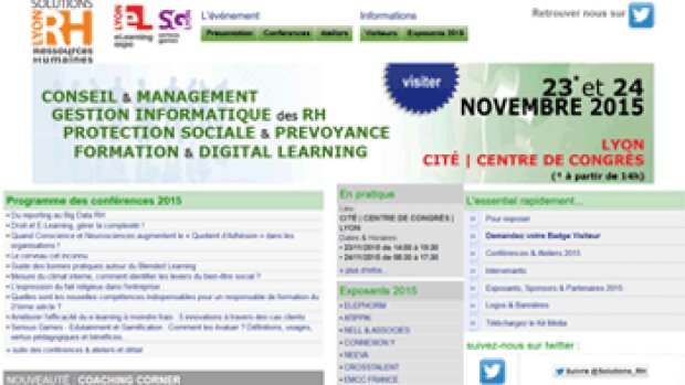 J-11 pour la 4ème édition du Salon Solutions RH à Lyon