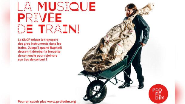 SNCF : la Profedim lance une campagne pour faciliter le transport des instruments de musique