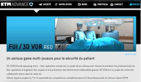 3D Virtual Operating Room : le serious game du bloc opératoire