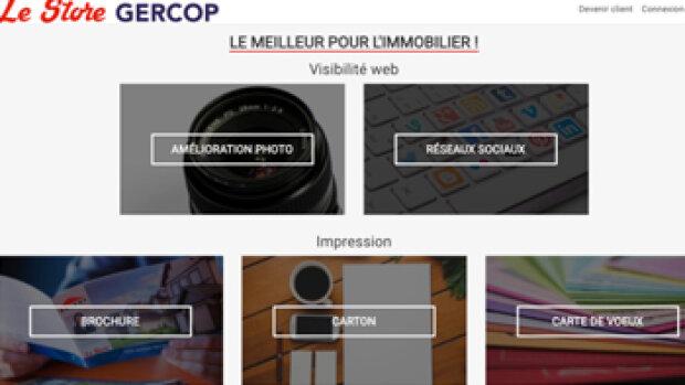 Gercop lance un store dédié à l'immobilier