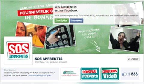 Recrutement des apprentis  : le Crédit Agricole choisit Facebook