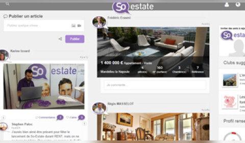 So-Estate : un nouveau réseau social pour les professionnels de l'immobilier