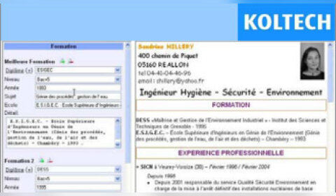 Koltech lance un «Picasadu CV»