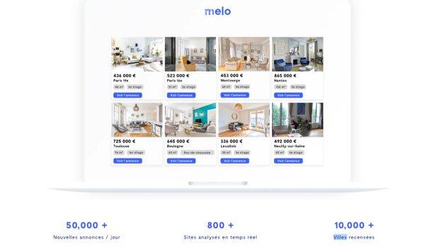Melo, le nouvel agrégateur d'annonces immobilières aux 800 sources