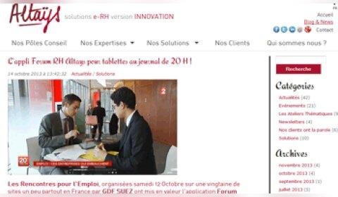 Altays lance une application sur tablette dédiée aux forums de recrutement