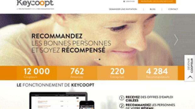 La start-up Keycoopt lève 1,4 million d'euros