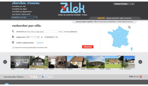 Zilek.com : un moteur de recherche qui répertorie gratuitement les annonces immobilières