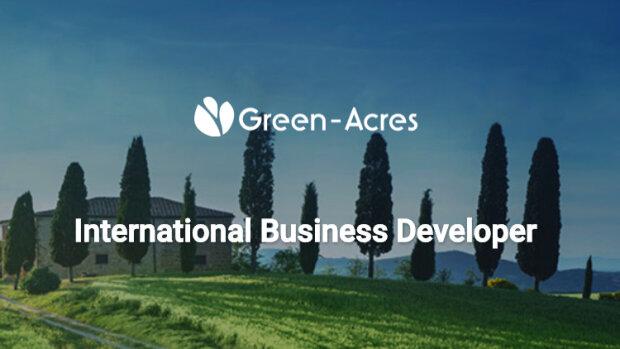 L'offre d'emploi de la semaine : International business developer - Paris - Green-Acres