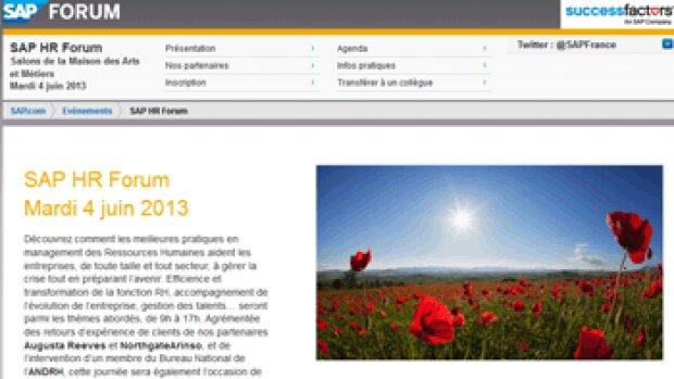 """""""Le SAP HR Forum est destiné aux professionnels en quête de solutions pour mieux faire face à la crise"""" E Minard, SAP"""