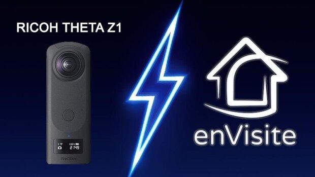 Ricoh Theta Z1 et enVisite, la réalisation de visites virtuelles au summum