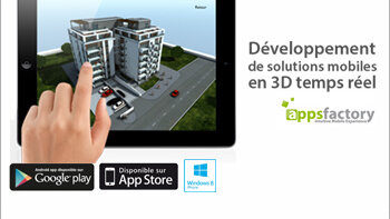 Appsfactory propose des solutions mobiles 3D en réalité augmentée et temps réel - D.R.