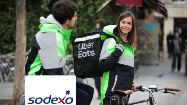 Alliance mondiale Sodexo et Uber Eats (photomontage) - © D.R.