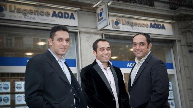 Pascal, Michael et Jacques Reboh, cofondateurs du Groupe Agda Immobilier - © D.R.