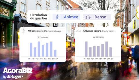 Agorabiz, premier site à enrichir ses annonces avec les données  des flux piétons et véhicules  -