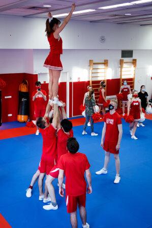 Le cheerleading figure parmi les disciplines proposées au pôle. - © Pôle Léonard de Vinci