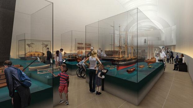 Simulation du futur Musée de la Marine Nationale - © Casson Mann