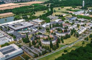 Vue aérienne du campus de l'Ecole polytechnique